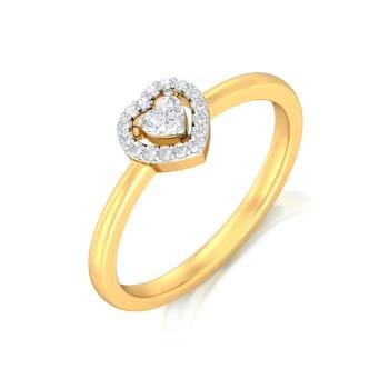 Ace of Hearts Diamond Rings
