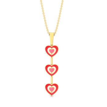 Heart-astic Gold Pendants