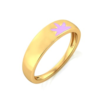 Lilac Licious Gold Rings