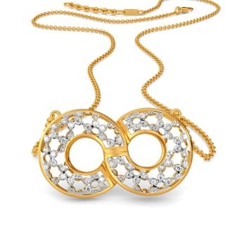 Lacy Twirls Diamond Necklaces