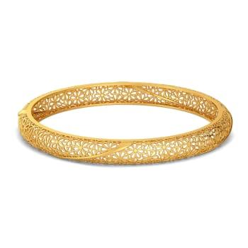 Twirl A Lace Gold Bangles