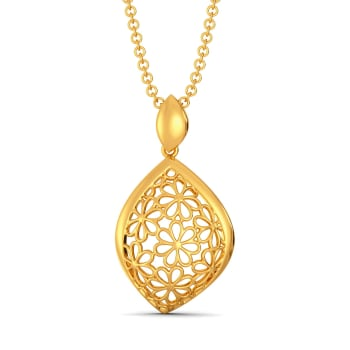 Lacy Notes Gold Pendants