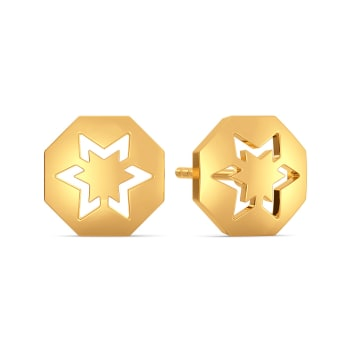 Star Streaks Gold Earrings