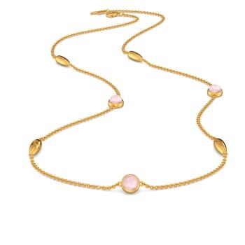 Dews of Pink Gemstone Necklaces
