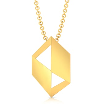 Shape Shine Gold Pendants