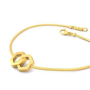 Gold Entwined Gold Bracelets