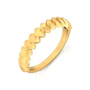 Rhombi Lovin Gold Rings