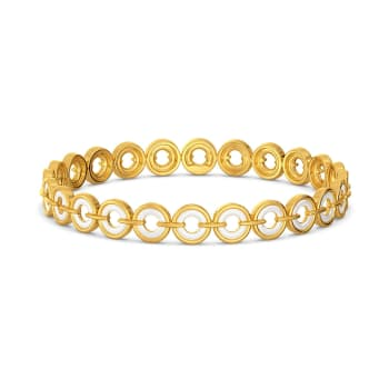 Ivory Discs Gold Bangles