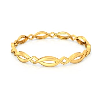 Braid N Bright Gold Bangles