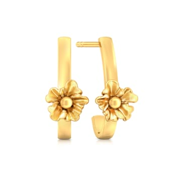 Urban Blossoms Gold Earrings