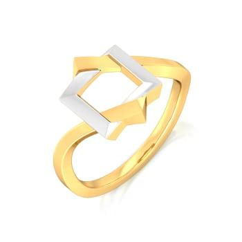 Dual Drama Gold Rings