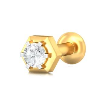 Hexa-glam Diamond Nose Pins
