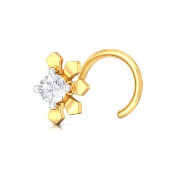 Petal Flutter Diamond Nose Pins