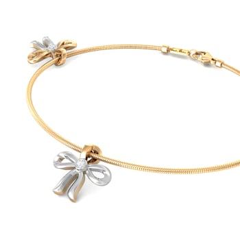 Ribbon Bow Diamond Bracelets