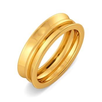 Blend N Bend Gold Rings