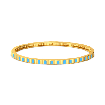 Cool Blue Gold Bangles