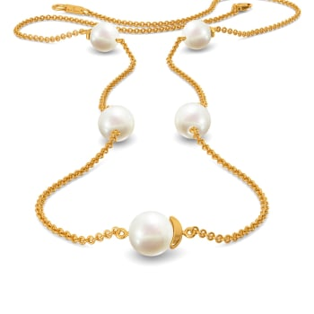 Dangle Dot Gemstone Necklaces