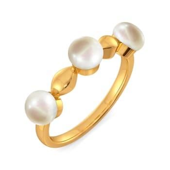 Playful Pearls Gemstone Rings