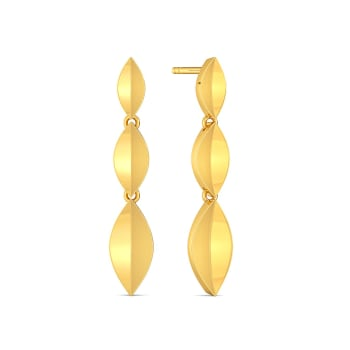 The Leaf Crease Gold Earrings