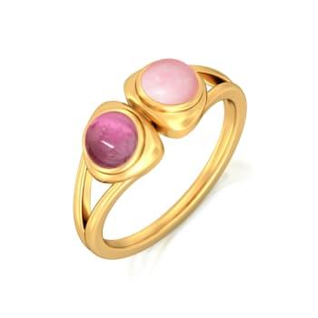 Bold Blush Gemstone Rings