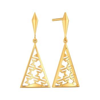Tweed Twills Gold Earrings