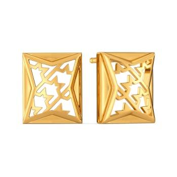 Twill in Tweed Gold Earrings