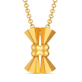 Bow N Bolder Gold Pendants