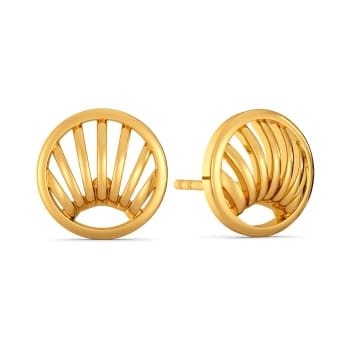 Raffia Response Gold Earrings