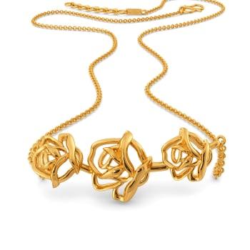 Dark Blooms Gold Necklaces