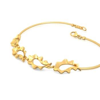 Ripplin' Paisley Gold Bracelets
