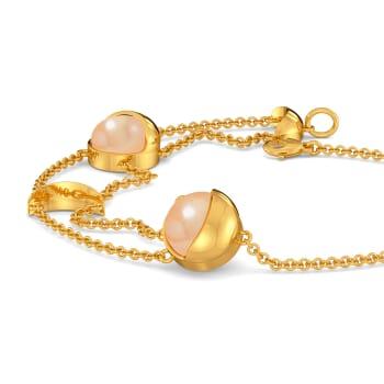 Cream O Blush Gemstone Bracelets