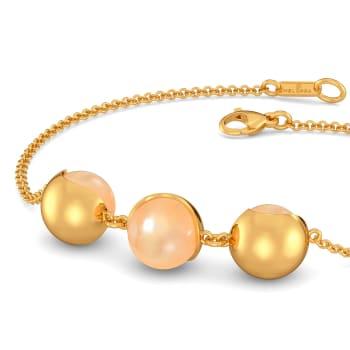 Peppy Peach Gemstone Bracelets