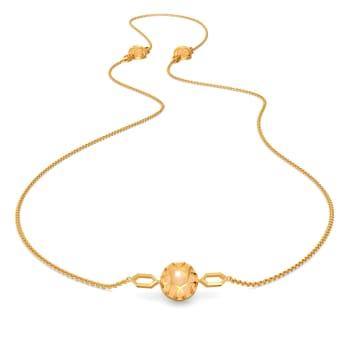 Peek A Peach Gemstone Necklaces
