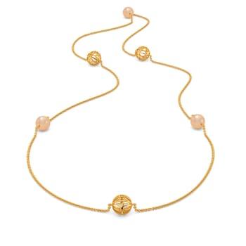 Peach Ready Gemstone Necklaces