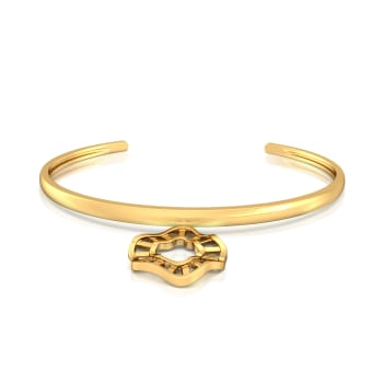 Ripple Effect Gold Bangles