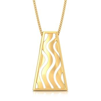Swerve Curve Gold Pendants
