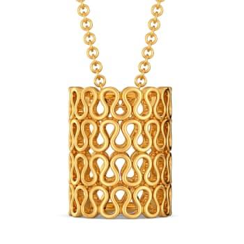 Knit Layers Gold Pendants