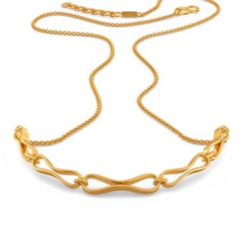 Knit Bit Gold Necklaces