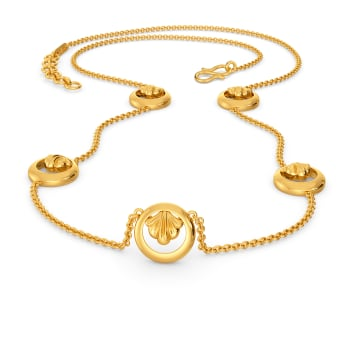 Curly Beach Gold Necklaces