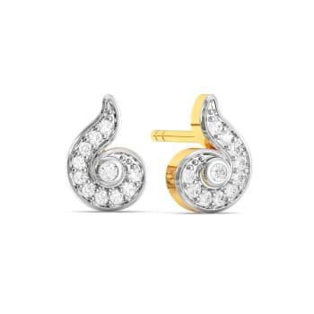 Swirl Twirl Diamond Earrings