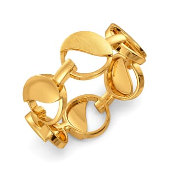 Formal Sequins Gold Rings