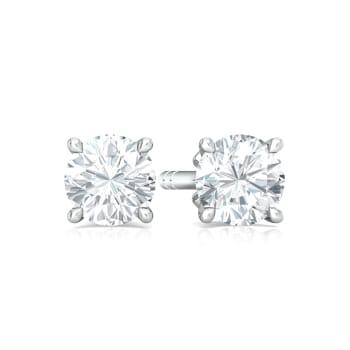 Sassy Solitaire Diamond Earrings
