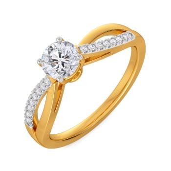 Charming Twirls Diamond Rings