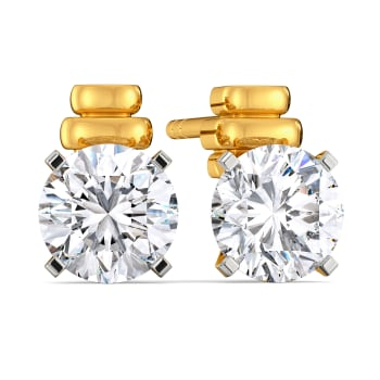 Solitaire Search Diamond Earrings