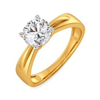 Bow Bort Diamond Rings
