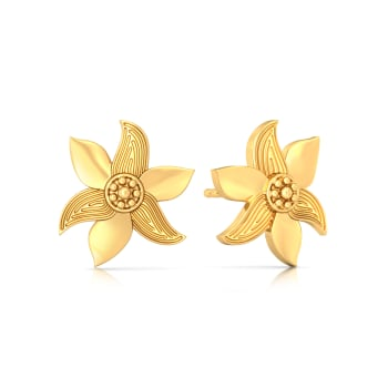 Mustard Musing Gold Earrings