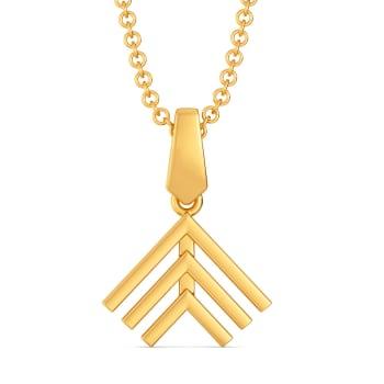 Seventies Collar Gold Pendants
