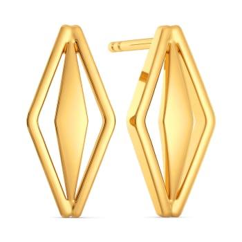 Bell Bottomed Gold Earrings