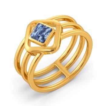 Blended in Blue Gold Rings