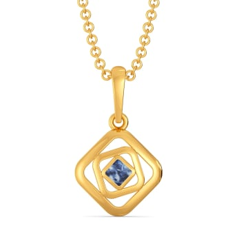 Blended in Blue Gold Pendants